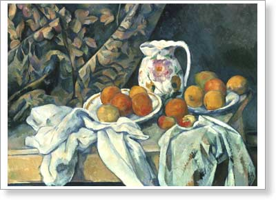 Cezanne Paul. Still Life with Drapery. Fine art print A2