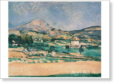 Cezanne Paul. The Plain by Mont Sainte-Victoire, View from Valcros. Fine art print B2