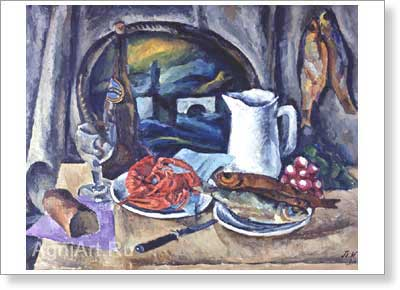 Konchalovsky Pyotr. Crayfish. Art print on canvas