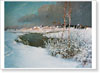 Dubovskoy Nikolay. In Early Winter.  Fine art print A3