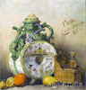 Sokolov Pyotr. Still Life with a Kvass Jug. Art print on canvas