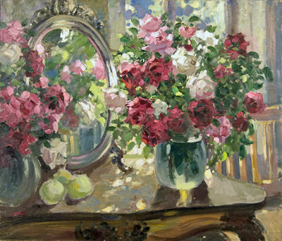 Gerasimov Alexander. Roses. Art print on canvas - paintings, sale of paintings