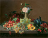 Khrutsky Ivan. Fruit and Flowers. Art print on canvas