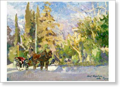 Korovin Konstantin. Gurzuf 1915. Art print on canvas
