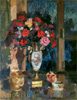 Korovin Konstantin. Bouquet of Paper Roses. Art print on canvas