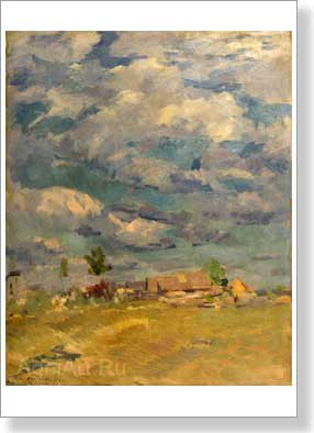 Korovin Konstantin. The cloudy sky. Art print on canvas