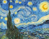 Van Gogh Vincent. The Starry Night. Fine art postcard A6