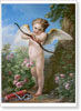 Vanloo Carle. Cupid Shooting A Bow. Fine art print A3