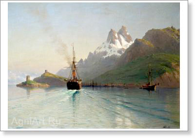 Lagorio Lev. Bode on the Lofoten Islands in Norway. Art print on canvas