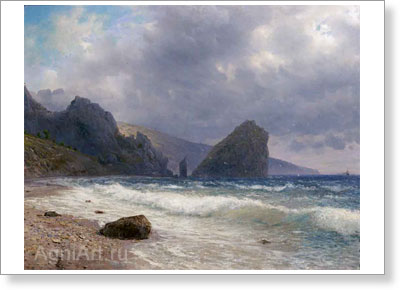 Lagorio Lev. Crimea -- Monakh and Diva Rocks. Art print on canvas