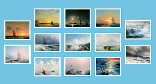 Ivan Aivazovsky. A set of cards 10x15 cm