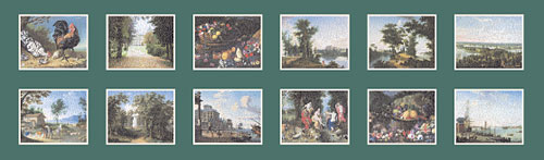 Paintings of the Gatchina Palace. Set of postcards 15x21 cm