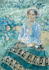 Borisov-Musatov Victor. Woman in Blue. Fine art postcard A6
