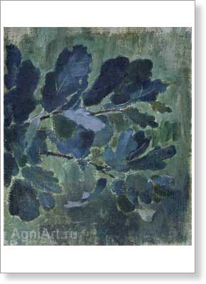 Borisov-Musatov Victor. Oak Leaves. Art print on canvas