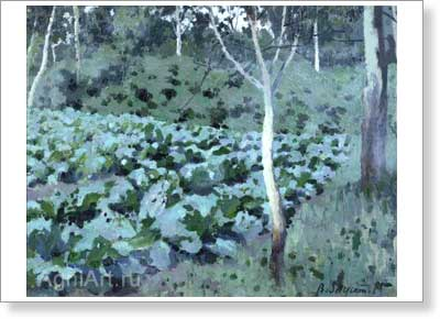 Borisov-Musatov Victor. Cabbage. Art print on canvas