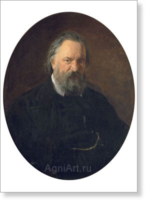 Ghe Nikolay. Portrait of Alexander Herzen. Fine art postcard A6