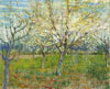 Van Gogh Vincent. The pink orchard. Art print on canvas