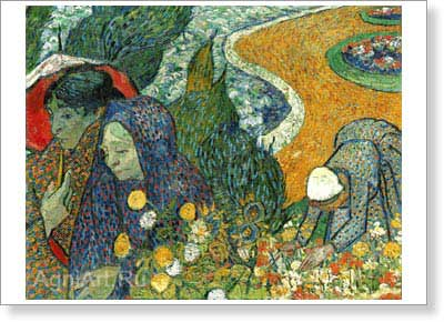 Van Gogh Vincent. Women of Arles. Fine art postcard A6