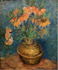 Van Gogh Vincent. Imperial Fritillaries in a Copper Vase. Art print on canvas