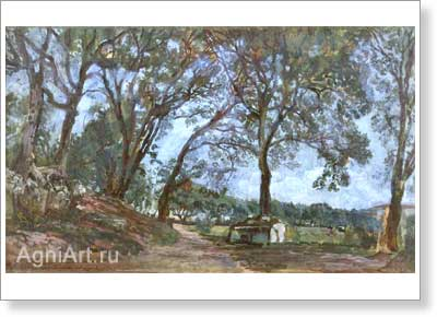 Ivanov Alexander. Landscape in Olevano. Art print on canvas
