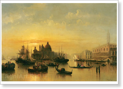 Puetner Joseph. Venice. Art print on canvas