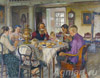 Bogdanov-Belsky Nikolay. New owners. Art print on canvas