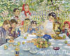 Bogdanov-Belsky Nikolay. Birthday teacher. Art print on canvas