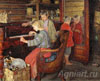 Bogdanov-Belsky Nikolay. Children at the Piano. Art print on canvas