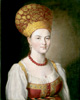 Argunov Ivan . Portrait of an Unknown Woman in Russian Dress. Fine art print B3