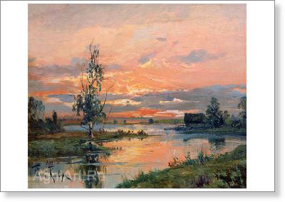 Klever Yuly. Sunset. Art print on canvas