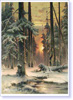 Klever Yuly. Winter Sunset in a Fir Forest. Art print on canvas