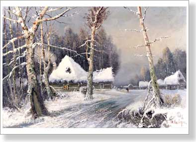 Klever Yuly. Winter. Art print on canvas
