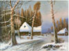 Klever Yuly. Winter Landscape. Art print on canvas