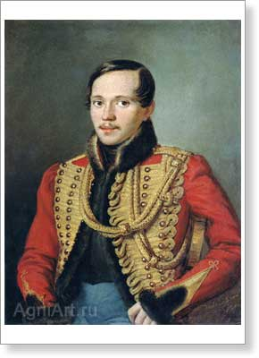Zabolotsky Pyotr. Poet Mikhail Lermontov. Art print on canvas