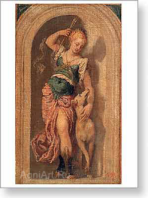 Veronese Paolo. Diana. Art print on canvas