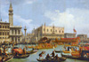 Return of Buchintoro to the pier at the Doge's Palace. Art print on canvas