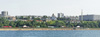 View of Samara from the Volga. Poster A3+ (25x70 cm)