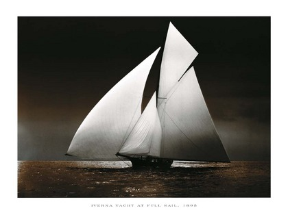 Photography Collection. Iverna Yacht at Full Sail, 1895 [08536]