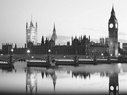 The Monochrome Gallery. Big Ben and the Houses of Parliament [08599]