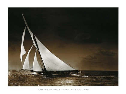 Photography Collection. Sailing Yacht Mohawk at Sea, 1895 [09130]